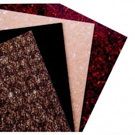 Foglio Rettangolare per mascherine e cover custom, 3 Strati, Bianco Perlato