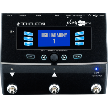 TC Helicon PLAY ACOUSTIC Voice and Acoustic Guitar FX Processor