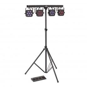 Kit Luci composto da 4 PAR ciascuno con 7 LED da 3W RGB