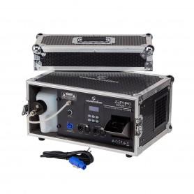 Macchina per foschia professionale con emissione e velocità regolabili, controllo DMX e Display a cristalli liquidi.