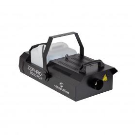 Potente macchina del fumo con interfaccia DMX, comando a filo e radiocomando.