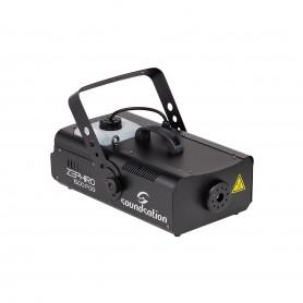 Potente macchina da fumo con interfaccia DMX, comando a filo e radiocomando.